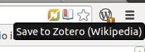 Quick link to add a reference to Zotero